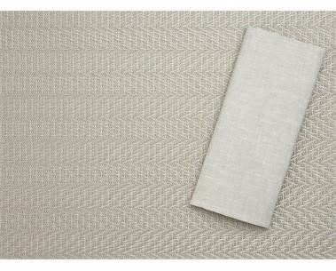 Metallic Herringbone Placemat/Linen Napkin
