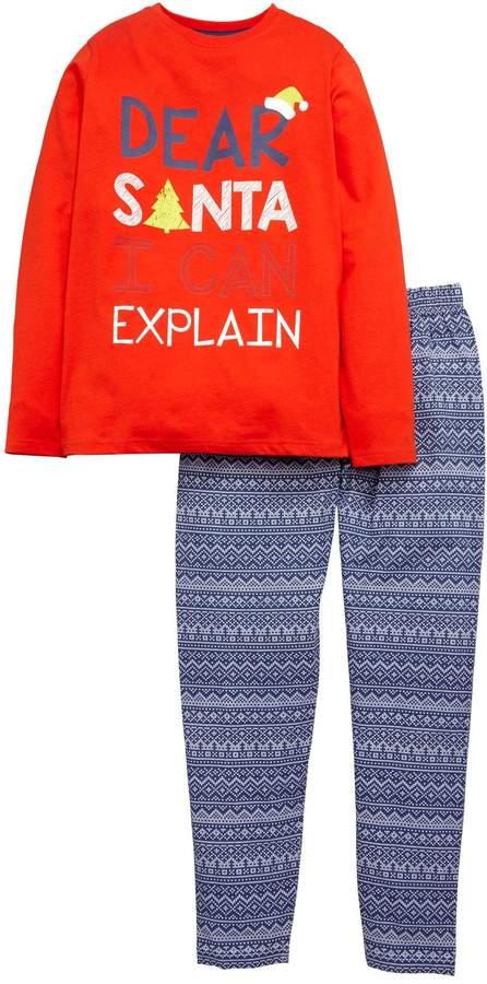 Santa I Can Explain Boys Christmas Pyjamas
