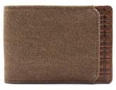 Boconi Bryant Leather & Canvas Slimster Wallet