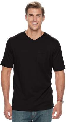 Croft & Barrow Big & Tall Classic-Fit Easy-Care V-Neck Pocket Tee