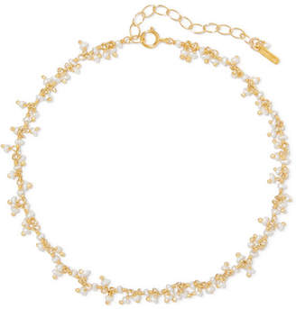 Chan Luu Gold-plated Pearl Anklet
