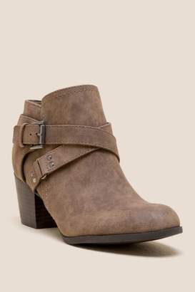Indigo Rd Sablena Buckle Ankle Boot - Taupe