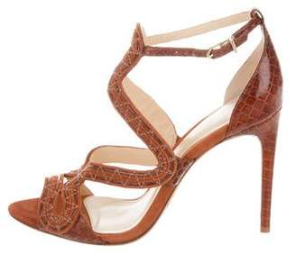 Alexandre Birman Multistrap Snakeskin Sandals w/ Tags