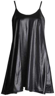 aab0bf8f8f367c FashionMark Womens Wet Look PVC Flared Swing Cami Dress