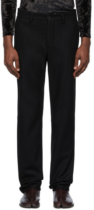 Maison Margiela Black Wool Regular Fit Trousers