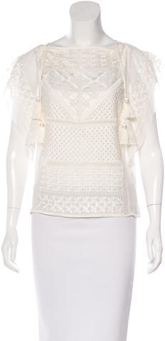 Isabel Marant Isabel Marant Silk Embroidered Top w/ Tags