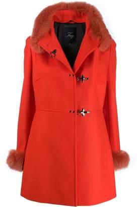 Fay fur details coat