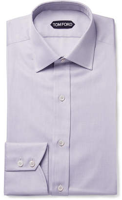 Tom Ford Lilac Slim-Fit Cotton-Twill Shirt - Lilac