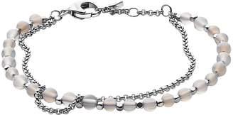 Fossil Silver Semi-Precious Double-Chain Women's Bracelet
