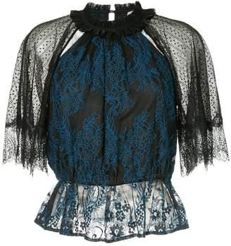 Three floor lace blouse