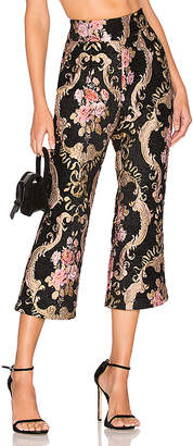 For Love & Lemons Brocade Flared Pant