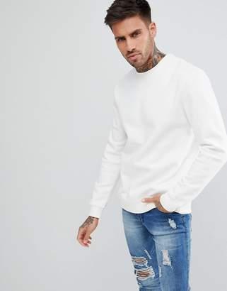 Pull&Bear Sweatshirt In White