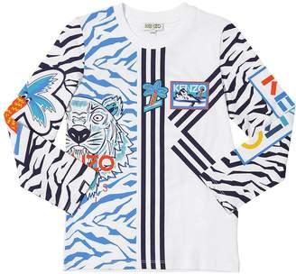 Kenzo Printed Cotton Jersey T-Shirt
