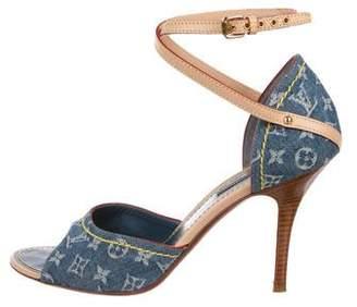Louis Vuitton Monogram Denim Sandals