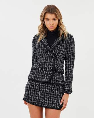 Sara Fitted Tweed Blazer