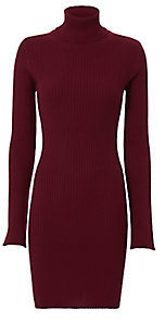 Autumn Cashmere Ribbed Turtleneck Dress $398 thestylecure.com