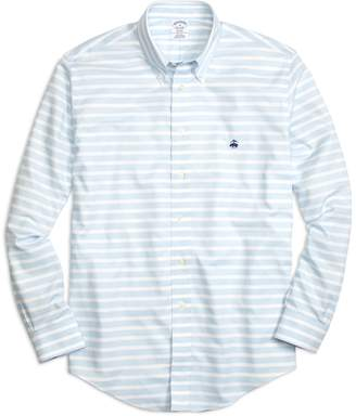 Brooks Brothers Non-Iron Regent Fit Horizontal Stripe Sport Shirt