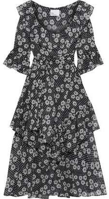 Lisa Marie Fernandez Laura Tiered Floral-print Cotton-gauze Midi Dress