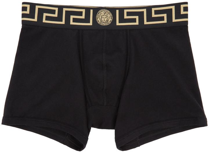 Versace Underwear Black Medusa Boxer Briefs