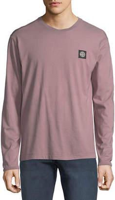 Stone Island Men's Chest-Logo Long-Sleeve T-Shirt