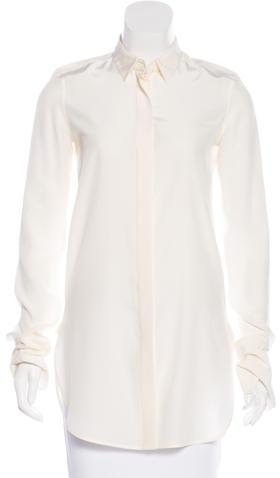 CelineCéline Button-Up Silk Top