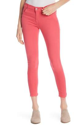 7 For All Mankind Released Hem Ankle Skinny Jeans (Mauve)