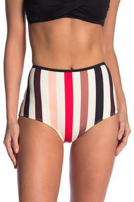 Solid & Striped The Brigitte Stripe High Waist Bikini Bottoms