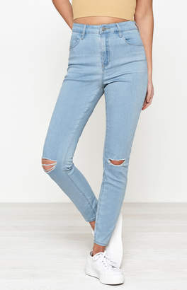 Pacsun Soft Blue Super High Rise Skinniest Jeans