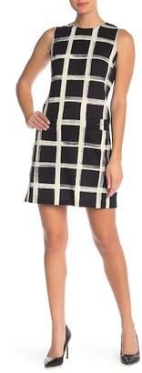 Eliza J Sleeveless Print Shift Dress