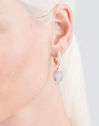 Tamara Comolli Small Grey Moonstone Singledrop Earrings