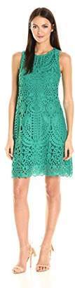 Julia Jordan Women's All Over Mesh Sheath Dress Sleeveless $138 thestylecure.com