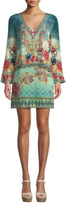 Camilla Her Heirloom Silk Printed Long-Sleeve Tunic