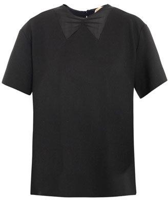 No. 21 Sheer collar blouse