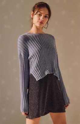 LA Hearts Ribbed Chenille Pullover Sweater