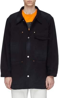 Vyner Articles Patch pocket denim worker jacket