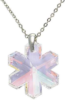 Swarovski Cristalina Snowflake Crystal Pendant & Chain of 46cm with 4cm Extender