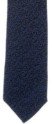 Charvet Jacquard Silk & Wool-Blend Tie