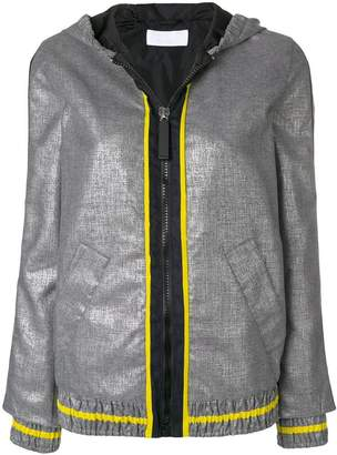 NO KA 'OI No Ka' Oi zip front hooded jacket