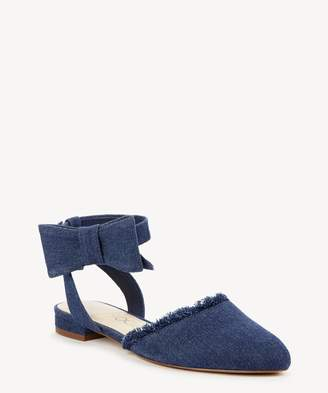 Sole Society Pollie Ankle Strap Bow Flat