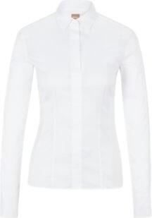 BOSS Hugo Slim-fit blouse darted seam detail 4 White