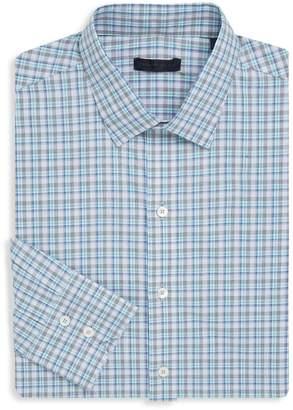 Zachary Prell Men's Plaid Cotton Button-Down Shirt