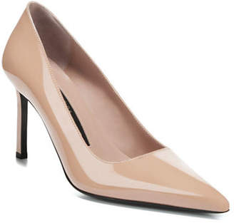 Via Spiga Nikole Lacquered Leather Point-Toe Pumps