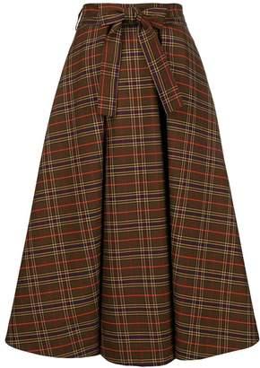 MSGM checked flared skirt