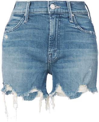 Mother distressed denim shorts