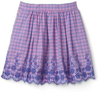 Gap | Sarah Jessica Parker Embroidery Gingham Skirt