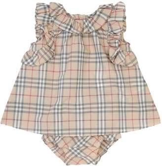 Burberry Check Cotton Muslin Dress & Diaper Cover