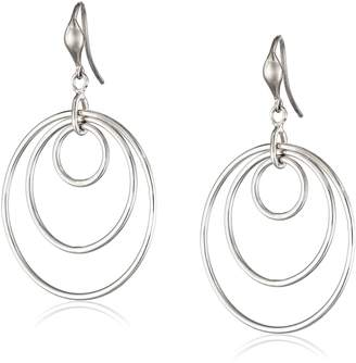"Zina Sterling ""Wired"" Loose Concentric Circle Drop Earrings"