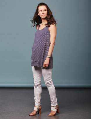 Paige Pea Collection Side Panel Skyline Ankle Peg Maternity Jeans