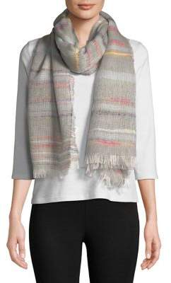 Steve Madden Party Stripe Fringe-Trim Scarf