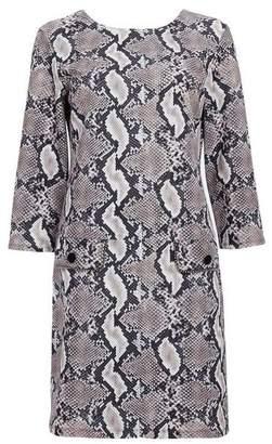 Wallis Stone Snake Print Shift Dress